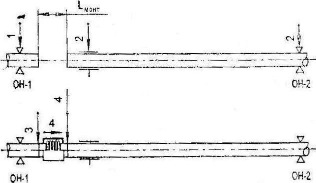 Схема монтажа компенсаторов